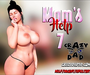 manga CrazyDad- Mom's Help Issue 7, blowjob , incest
