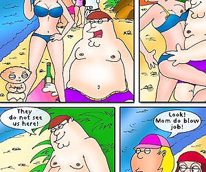 manga Family Guy – Beach Play,Drawn Sex, incest , family