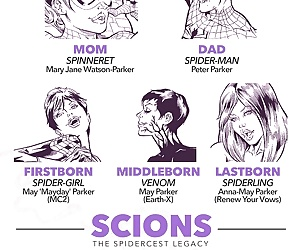 manga Scions - The Spidercest Legacy, threesome , incest  mom