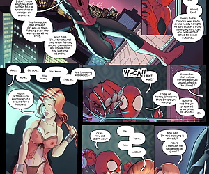 english manga Red and White Gifts, spider-man , mary jane watson , ffm , threesome  gif